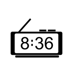 Digital clock icon vector image