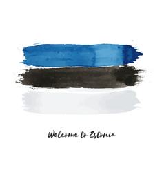 Estonia watercolor national country flag icon vector