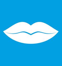 Female lips icon white vector