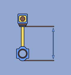 Flat icon design collection car piston and arrows vector
