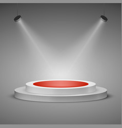 Floodlit stage illuminated stage podium scene vector