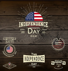 Fourth of July Independence Day USA badges logos vector