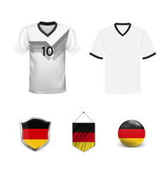Germany football jersey abstract graphic image of vector