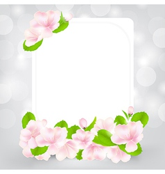 Gift card with apple flower vector