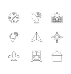 Gps set icon design vector
