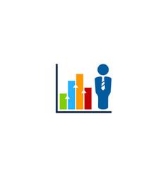 graph job logo icon design vector image