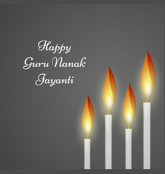 guru nanak jayanti background vector image