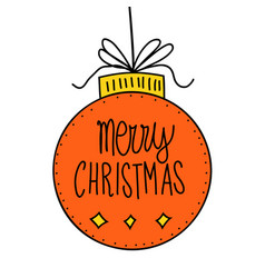 hand drawn doodle of christmas vector image