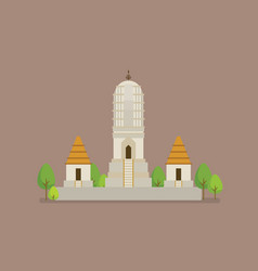 historical ancient white temple vector image