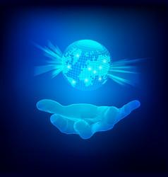 holdingworld vector image
