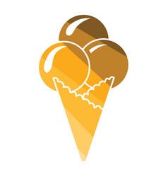 ice-cream cone icon vector image