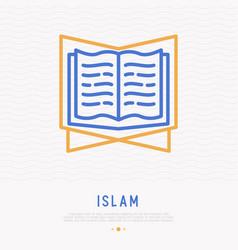 Koran thin line icon modern vector