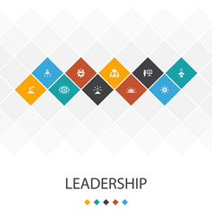 Leadership trendy ui template infographics concept vector