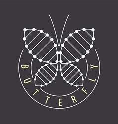 Logo abstract tech butterfly vector