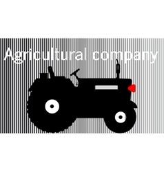 Logo tractoragricultural company vector