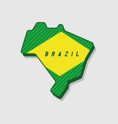 map of brazil modern 3d style vector image