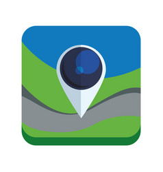 Map pointer app vector