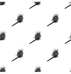 Match icon in black style isolated on white vector