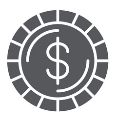 Money coin glyph icon finance and money cent vector