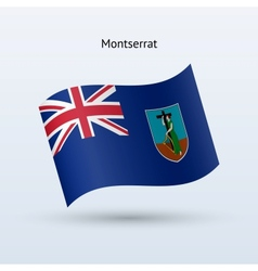Montserrat flag waving form vector