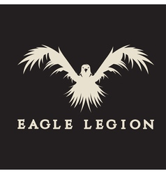 Negative space concept of warrior heads in eagle vector