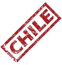 New Chile rubber stamp vector