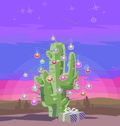 New year cactus v vector