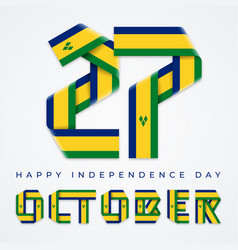 October 27 saint vincent and grenadines vector