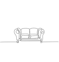 One single line drawing expensive luxury vector