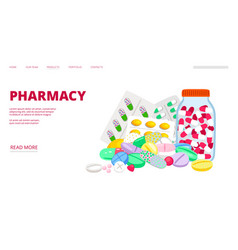 Pharmacy landing page vector