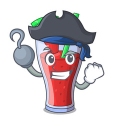 Pirate character tasty beverage fruit watermelon vector