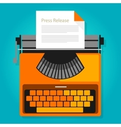 press release news paper publication vector image