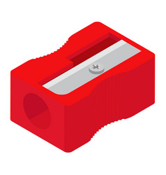 red pencil sharpener isolated on white background vector image