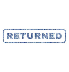 Returned textile stamp vector