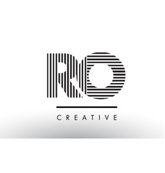 Ro r o black and white lines letter logo design vector