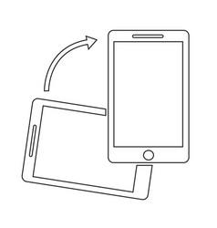 rotate smartphone icon vector image