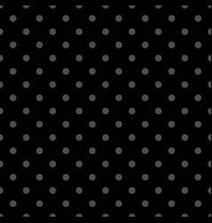 seamless dark pattern with tile grey polka dots vector image