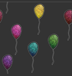 Seamless pattern background with party balloons vector