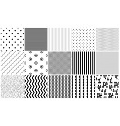 seamless pattern black and white geometric vector image