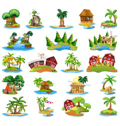 Set different islands vector