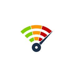 Speed wifi logo icon design vector