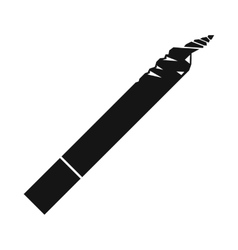 spliff icon black simple style vector image