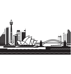Sydney skyline by day vector