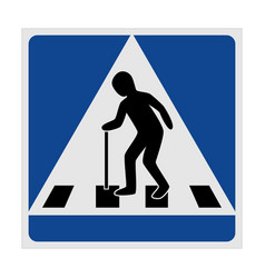 traffic sign pedestrian crossing elderly vector image