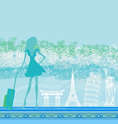 Traveling the world vector image