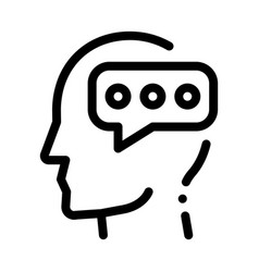 Typing message and man silhouette mind icon vector