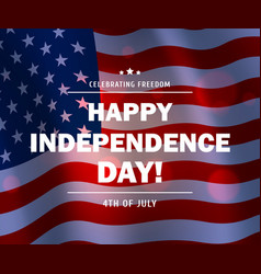 usa flag background american independence day vector image