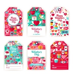 Valentines Day Gift Tag Labels vector