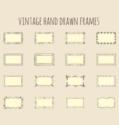 vintage hand drawn frames vector image vector image