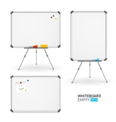 Whiteboard set different view vector